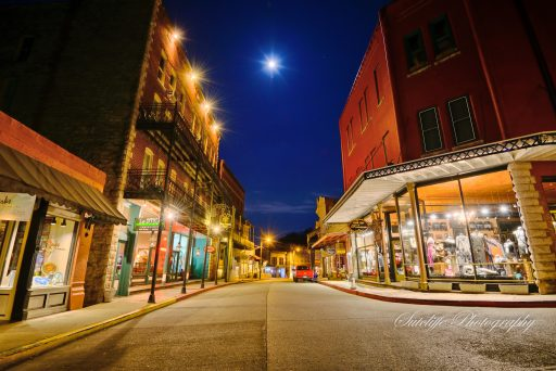 The lights are on but everybody's home. Eureka Springs at night.
