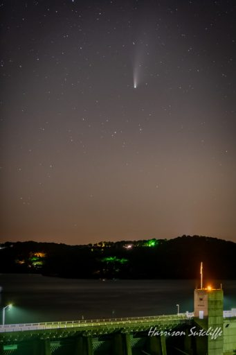Comet Neo-wise over Beaver Dam