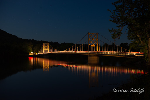 The Beaver Bridge at night